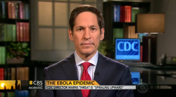Are we sure this is the right fellow to run the CDC?  (interesting photo moment.. Dr. Thomas Freiden on TV... with his mouth closed and saying nothing)