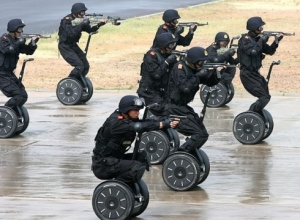 Um... one of these to allow a cop to get around easier makes sense. But an army of these?