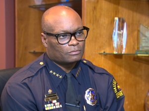 The reluctant hero of the hour, Dallas Police Chief David Brown