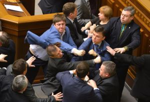 "Politicians ""debating"" in Ukraine. (AP)"