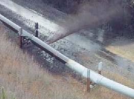 Actual bullet results on Alaska Pipeline.