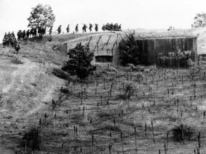 France's Maginot Line.  Easier to go around it.